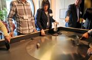 An interactive exhibit that allows participants to experiment on their own.