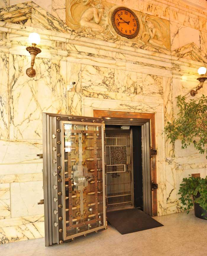 Bank of Italy lobby with vault