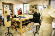 Kitty Muntzel, who has been designing costumes for Berkeley rep for about 25 years, now has better working conditions.