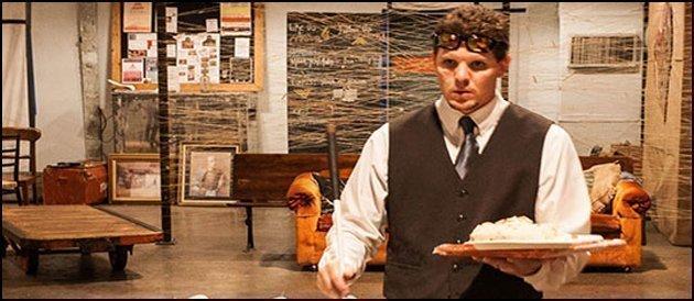 A Blind Cafe waiter.