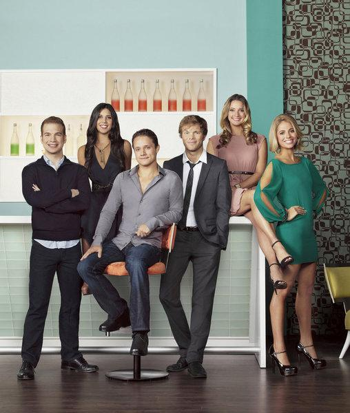 """The cast of """"Start-ups: Silicon Valley"""" from left to right: David Murray, Kim Taylor, Ben Way, Dwight Crow, Hermione Way, Sarah Austin."""