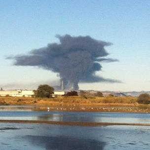 #chevronfire Chevron fire refinery Richmond San Pablo North Richmond shelter in place