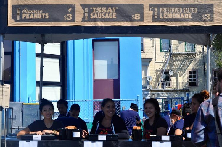Vendors lined up side-by-side at the festival, which stretched 6 blocks on Folsom Street.