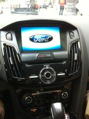 """The dashboard of the Ford Focus Electric comes with a touch screen, mapping technology and all kinds of other features. """"Fully loaded"""" is the only version of the all-electric Ford is offering."""