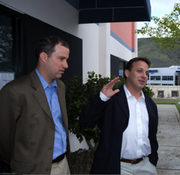 Solazyme President and Chief Technology Officer Dillon (left) and CEO Wolfson in a more recent picture.