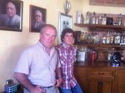 Four Generations of tequileros: The Orendian family has produced tequila for more than a century. Eduardo Orendian, left, took on the family business from his father. He now runs El Llano, the family's original distillery started by his grandfather, and is grooming his son, Eduardo Orendian Gutierrez, right, to join in as well.