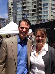 Emerald Fund's Alastair Mactaggart and Rachel Norton of the Parks Alliance.