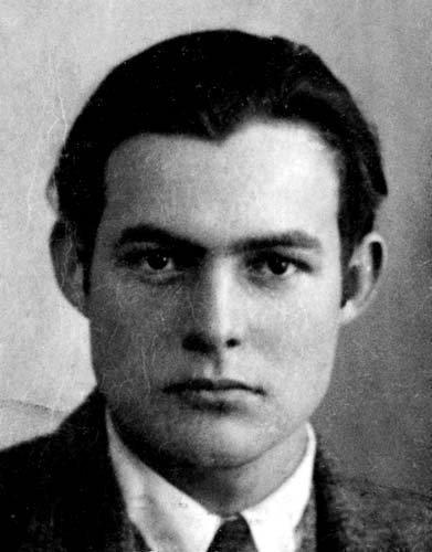 Ernest Hemingway's passport photo.