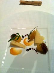 It's called Txiki. It has quince, pecan arugula, among other things. The cheese course.
