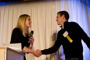 David Friedberg, CEO of the Climate Corporation, accepts his award at the Forty Under 40 event March 7.