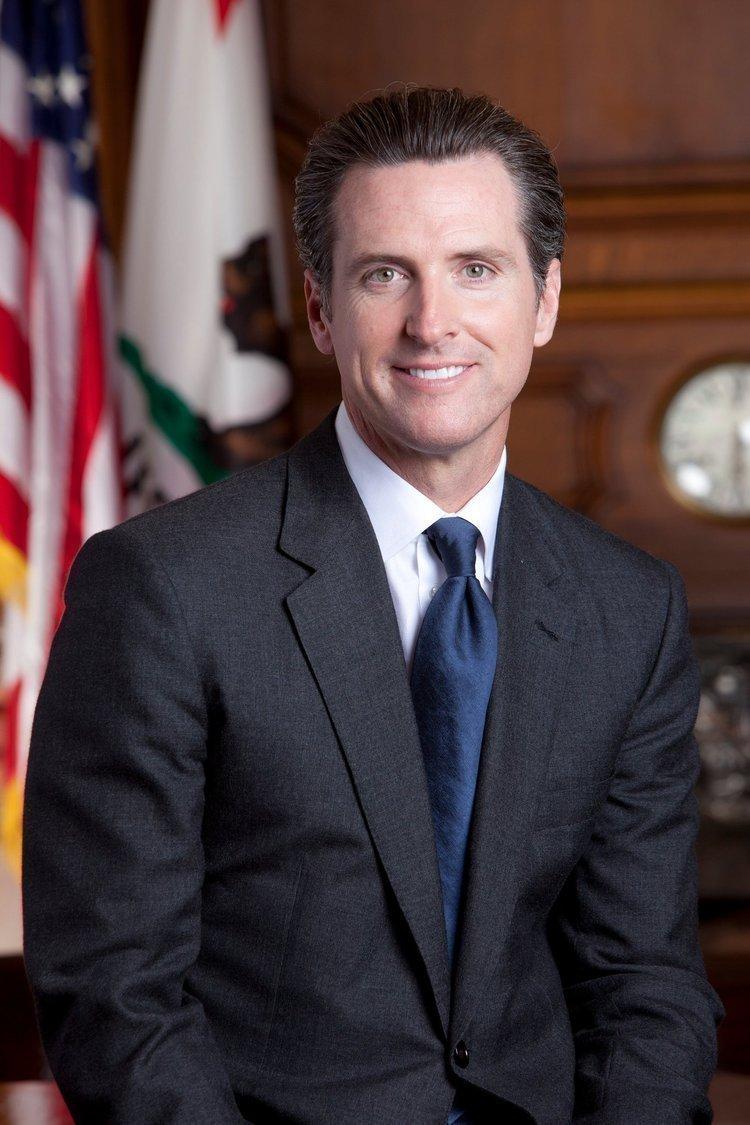 A busy man: California Lt. Gov. Gavin Newsom.