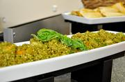 The Israeli couscous risotto was a little too oily and flavorful for some.