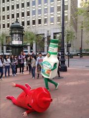 A dancing duo on the streets of San Francisco is helping Clorox pitch Hidden Valley Ranch as 'the new ketchup.'