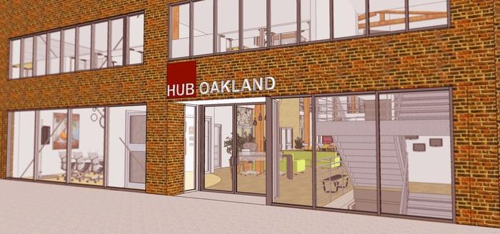 GardnerDesignLabandFlynn Architectsare working with Hub Oakland to design the co-working space. The Hub is trying to raise $100,000 more to fund the buildout through crowdfunding platform Kickstarter.