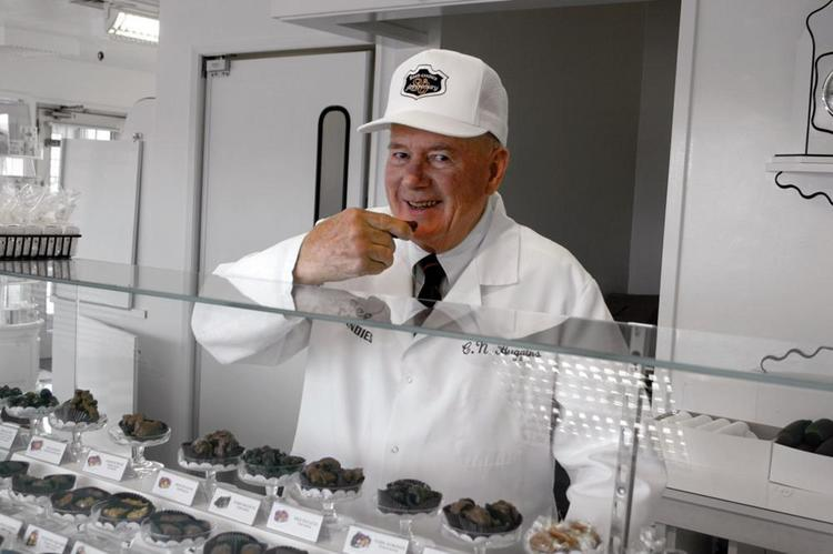 Chuck Huggins, former president and CEO of See's Candies, died Aug. 19 at 87.