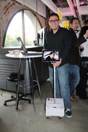 This is a telepresence robot developed by Fellow Robots, a new startup.