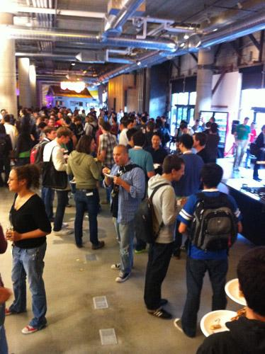 Zynga drew a big crowd from Facebook's developer conference for a party at its new San Francisco headquarters.