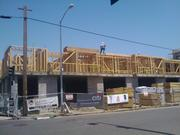 This photo taken on May 17 shows the construction in progress. The apartments were scheduled for completion in September.