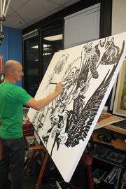 Planet Labs artist-in-residence Forest Stearns