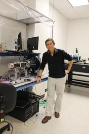 Chester Gillmore, a Planet Labs production engineer who has helped set up a manufacturing system for rapidly cranking out small satellites at low cost.
