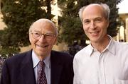 Father-and-son Nobel Prize winners Arthur and Roger Kornberg of Stanford. Arthur won the 1959 Nobel in physiology or medicine; Roger won the 2006 chemistry prize.