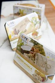 LYFE's refrigerated meals serve four (10 oz. portions) and have a shelf life of 45 days. All of their meals are less than 500 calories per serving.
