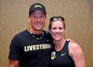 I raised nearly $3,000 to support Lance Armstrong's Livestrong Foundation and raced with Armstrong in the Honu Ironman 70.3 June 2.