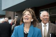U.S. Rep. Jackie Speier (D-CA14) and South San Francisco Mayor Pedro Gonzalez celebrate the opening of the affordable housing development