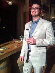 Chateau Montelena winemaker Cameron Parry sipped a 1993 Chardonnay at the Thursday night event to celebrate the opening of the winery's tasting room at the Westin St. Francis.