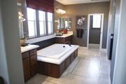 One perk of buying a new home is that many are designed to have large bathrooms.