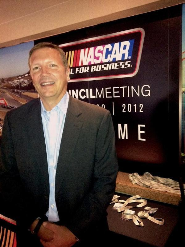 """HP's Rob Vatter said the partnership with NASCAR to launch a Fan and Media Engagement Center will take social media engagement using advanced data and analytics """"to a whole new level"""" for NASCAR."""