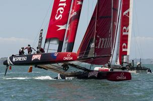New Zealand's team in the America's Cup.