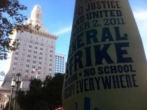 A week after police cleared it, Frank Ogawa Plaza in front of Oakland City Hall was again filled with protesters and campers on Tuesday evening.