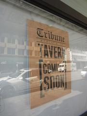The groundfloor restaurant is called Tribune Tavern and will open next spring.