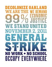 A flyer promoting the Occupy Oakland General Strike on Nov. 2.