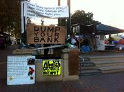 Signs at the Occupy Oakland camp on Nov. 9.