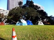 Some campers moved to Snow Park to get away from the anarchy and civic antagonism of the City Hall site.
