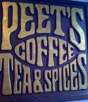 "A sign from when Peet's itself was a ""mom-and-pop."""