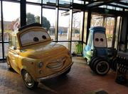 "Characters from the movie ""Cars,"" from Pixar, another Northern California movie producer acquired by Disney."