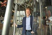 Exploratorium executive director Dennis Bartels shows of fthe organization's new digs.