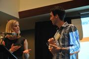Antony Goldbloom, CEO of Kaggle, accepts his award at 40 Under 40.