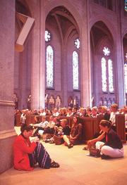 Day of Remembrance, Sept. 14, 2001, Grace Cathedral, San Francisco: Visitors seeking solace filled the cathedral.