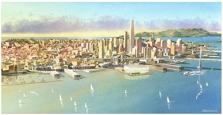 The Warriors' plans for a waterside arena in San Francisco could cost around $600 million.
