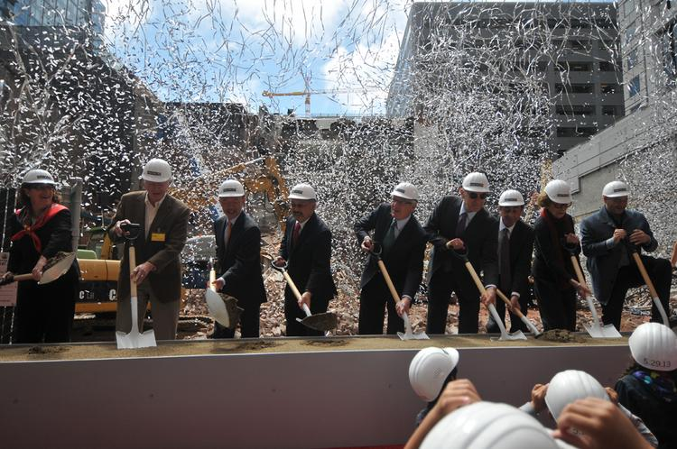 A powerful lineup that included San Francisco Mayor Ed Lee,              SFMOMA Director Neal Benezra and Board Chair Charles Schwab, broke ground Wednesday.