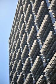 "A view of the ""venetian blinds""on the new San Francisco Public Utilities Commission building."