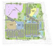 Safeway has divided the Orchards development site into sections for grocery, restaurants, a fitness center and housing.