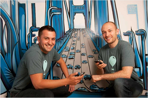 Zimride CEO Logan Green, right, and COO John Zimmer.