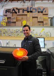 Rich Stump, co-founder of Studio Fathom in Oakland, used his own 3D printing shop to make prototypes of a novel type of plastic nesting bowls - and then formed another company called Calibowl to sell them. Calibowl now has ten employees and outsources production in Union City.