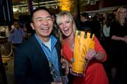 Ken Lin, CEO of Credit Karma, with Katie Hamilton Shaffer, founding vintner of Toolbox Wine Co.
