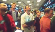 The Pacific Stock Exchange reopened Sept. 17, 2001: Market-maker Reza Hatefi looked for any signs of a turn as stocks fell.